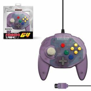 "New Retro-Bit ""Tribute 64"" Premium Compact Controller for Nintendo N64"