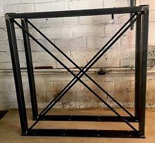 2 x Raw fatti a mano in acciaio di grandi dimensioni Tavolo da pranzo gambe stile industriale 71cm x 75 cmcross