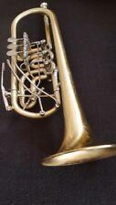 Berkeley Raw STC Brass Rotary Valves C Trumpet w/Upper Register Harmonic Key