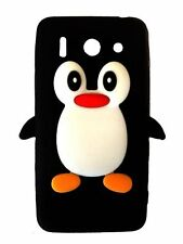 Black Silicone Penguin Phone Case / Cover for Huawei Ascend G510