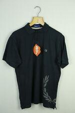 Vintage Camisa Polo para hombre deporte fred perry estilo Retro informal Pequeño Raro Indie Mod P44