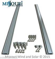 Solar Panel Mounting Rack 5 Foot Aluminum Rails & Hardware Heavy Duty Use