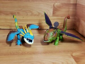 """How to Train Your Dragon 8 1/2"""" SKULLCRUSHER  & 7 1/2"""" STORMFLY  Toy Figures"""