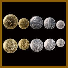 Guatemala 5 10 25 50 Centavos & 1 Quetzal (5 Pcs Coin Set),  2012-2016 Mint