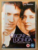 Oscar e Lucinda DVD 1997 Peter Carrey, Dramma W/ Ralph Fiennes + Cate Blanchett
