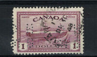 CANADA SCOTT 0273 USED WITH A LIGHT CIRCLE CANCEL.