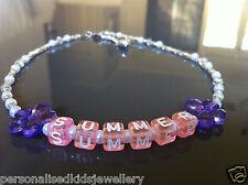 Personalised Name Necklace Birthdays Wedding Christening Naming Day Kids