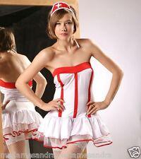 SEXY NURSE COSTUME OUTFIT Fancy Dress HALLOWEEN Party Dress Doctors & Nurses