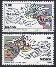 Mexico 1982 Christmas/Greetings/Dove/Birds/Peace/Animation/Doves 2v set (n39938)