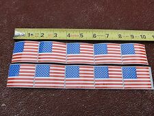 """American Flag Sticker 2"""" X 1 1/2"""" Perfect Size ~ Set Of 10 Stickers."""