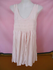 BUB2B Maternity Tank Top MED Pale Pink Sleeveless Shirred Bodice Stretchy #5760