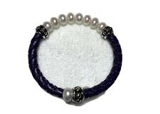 Beautiful Honora Pearl And Leather Bracelet
