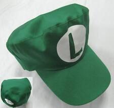 12'' Super Mario Bros Luigi Cap Baseball Hat Anime Toy Game Cosplay MLHT7445