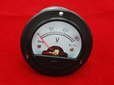 DC 30V Round  Analog Voltmeter Analogue Voltage panel meter Dia. 66.4mm DH52