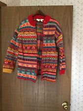 Women's Oilily Fair Isle Cardigan Sweater Size XL Made in Italy