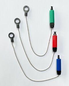 Carp Set of 3 Chain Bobbin Indicators Hangers For Carp and Specimen Fishing