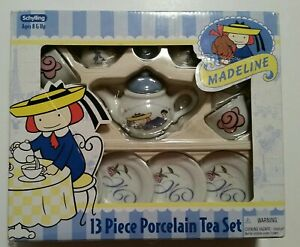 Madeline 13pc Porcelain Tea Set By Schylling New