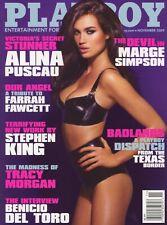PLAYBOY NOVEMBER 2009 Alina Puscau Kelly Thompson Marge Simpson Farrah Fawcett