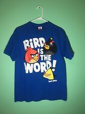 Angry Birds Bird is the Word T-Shirt Men's Size M Color Blue