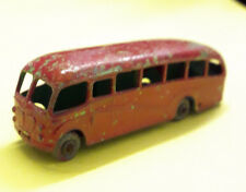 Matchbox Lesney Bedford Duple Luxury Coach No 21 Red Marroon Early Overpaint