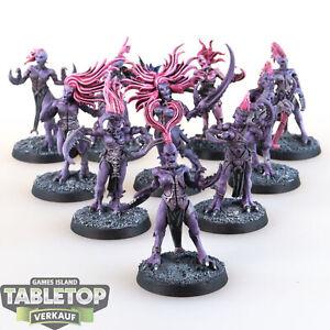 Daemons of Slaanesh - 10 Daemonettes - gut bemalt