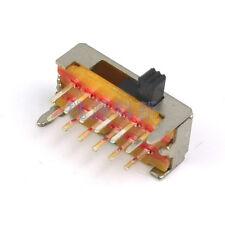 10pcs SK24D02 12Pins 4 Positions Horizontal Slide Switch 2P4T DC5V 0.3A