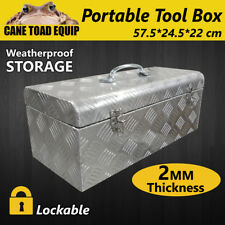 Tool Box Portable Mechanic Tool Storage Aluminium Trailer Heavy Duty