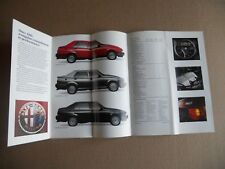 Alfa Romeo 1989 MILANO PLATINUM 3.0 Litre SPIDER Original Fold Out SALES LEAFLET