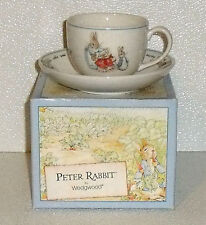 Wedgwood Cup And Saucer Set PETER RABBIT In Box England