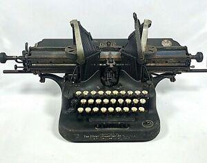 OLIVER Batwing Typewriter No. 5 Standard Visible Writer for Repair/ Restoration