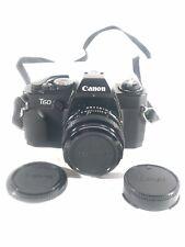 Canon T60 T-60 35mm Film FD Lens Mount SLR Camera W/ 50mm F1.8 Lens