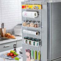 Kitchen Refrigerator Fridge Side Storage Rack Side Shelf Rack Organizer
