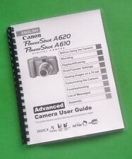Canon A610 A620 Power Shot Camera 139 Page Laser Printed Owners Manual Guide