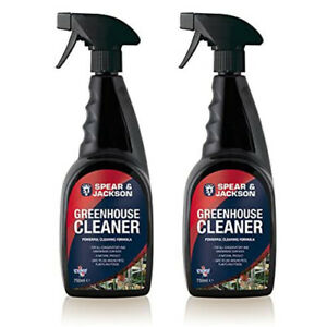 Greenhouse Cleaner 2 x 750ml destroy spores powerful formula all surfaces