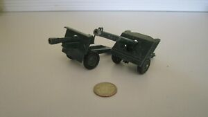 Vintage Britains Spring-Loaded Cannons. Lot of 2. Missing Paint. Working Order.