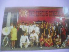 Circus Kingdom postcard clown 1960's Dover Pa tuba