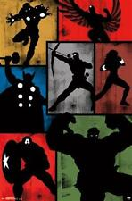 AVENGERS ~ ART DECO SILHOUETTE STYLE ~ 22x34 Comic Poster ~ NEW/ROLLED!  Marvel