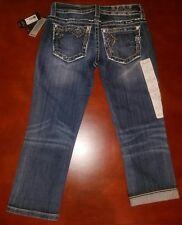 $99New MISS ME Women's Size 25 Mid-Rise Cuffed Capri Jeans MV8656P3