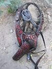 D.A.D CUSTOM LEATHER  Hand Tooled Western Shoulder Holster Brown