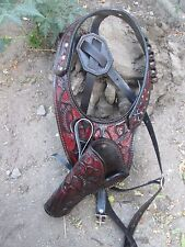 38/357 D.A.D CUSTOM LEATHER  Hand Tooled Western Shoulder Holster Brown