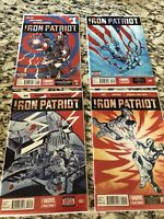 Iron Patriot Lot 1 2 3 5 Near Complete Set NM