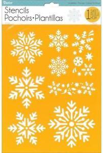 Darice 8.5 x 11 Stencil SNOWFLAKES 9 Designs 30018436