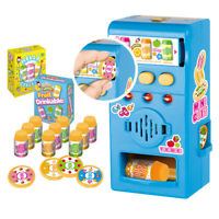 Children Simulated LED Sound Vending Machine Kit Pretend Play Education Toy