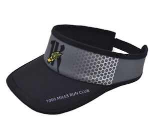 1KRC Unisex Climalite Visor Caps Running Hat  Silver Black with Logo