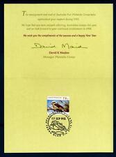 AUSTRALIA - Cart. Post. - 1993 - Cartolina di Natale: interno con francobollo e