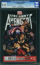 UNCANNY AVENGERS 1 CGC 9.8 Detroit Fanfare Cassaday Wolverine Thor 2012