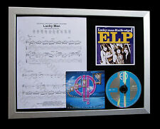ELP+EMERSON+LAKE+PALMER Lucky Man QUALITY CD FRAMED DISPLAY+EXPRESS GLOBAL SHIP