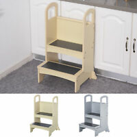 Qaba Kitchen Helper for Children Step Stool Ladder with 2 Easy Steps