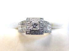 New 1.15 Carat H, VS2 Diamond Engagement Ring Princess Cut 14K White Gold Size 6