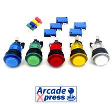 Boton Arcade iluminado 24mm LED Pushbutton MAME Recreativa Bartop RetroPie
